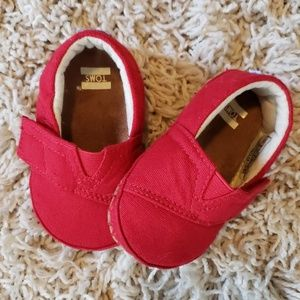 Red Canvas Tiny TOMS